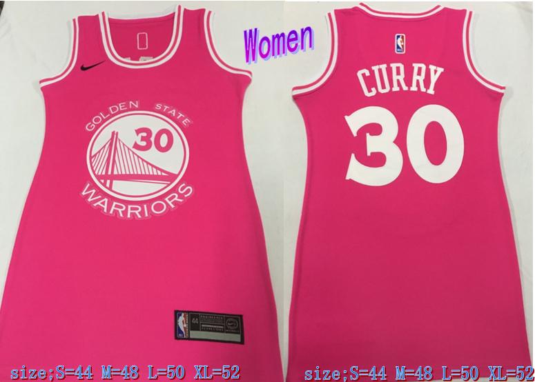 Warriors 30 Stephen Curry Pink Women Nike Swingman Jersey