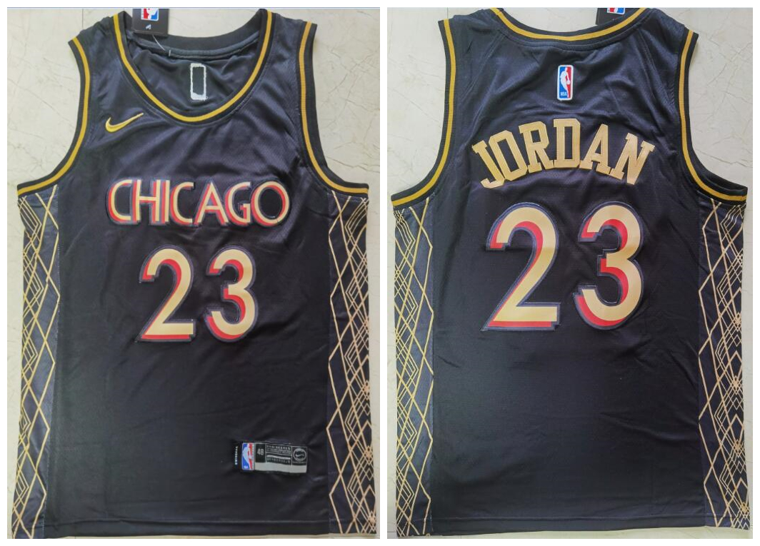 Bulls 23 Michael Jordan Black 2021 City Edition Nike Swingman Jersey
