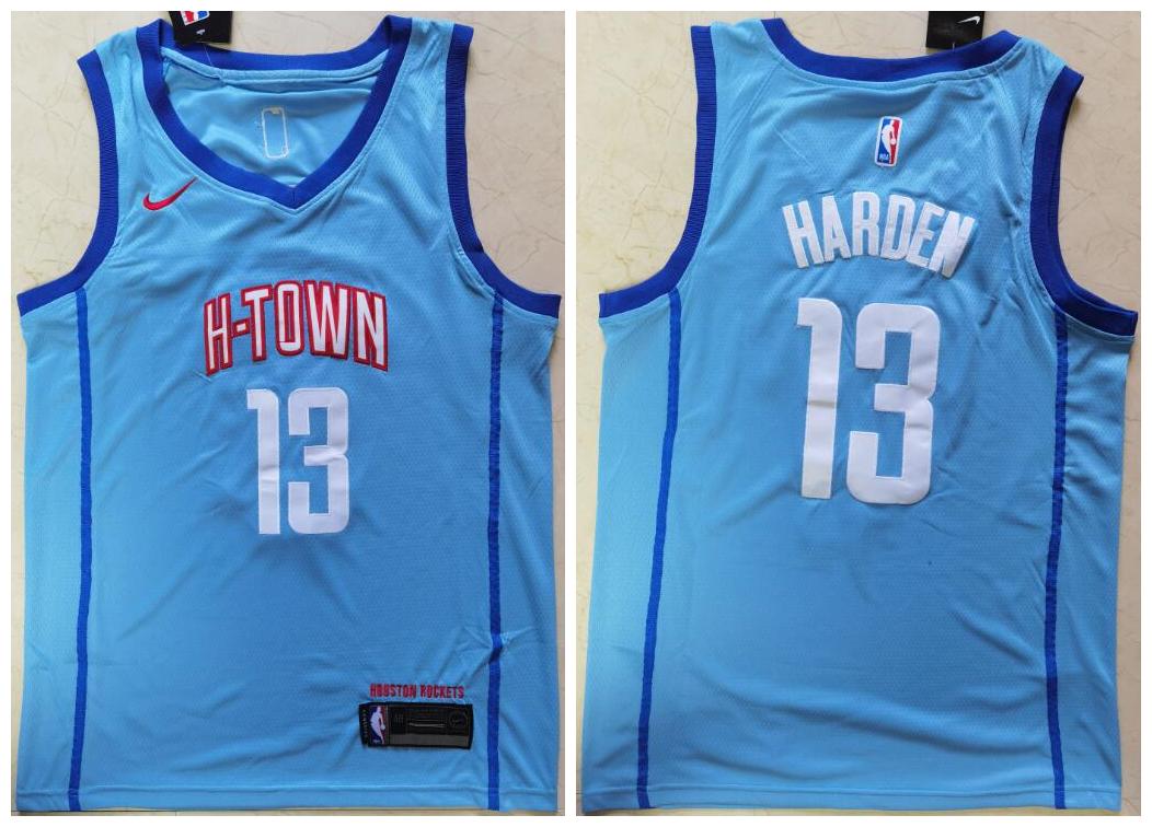 Rockets 13 James Harden Blue 2021 City Edition Nike Swingman Jersey