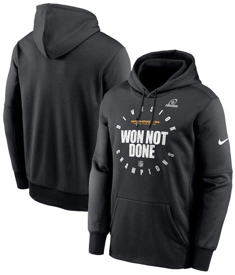 Men's Washington Football Team Nike Black 2020 NFC East Division Champions Trophy Collection Pullover Hoodie