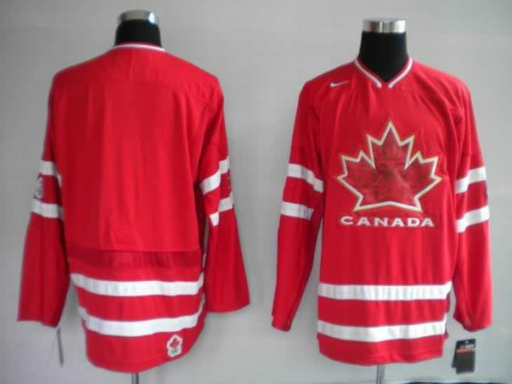 2010 Olympic Maple Leaf Blank Red Jerseys