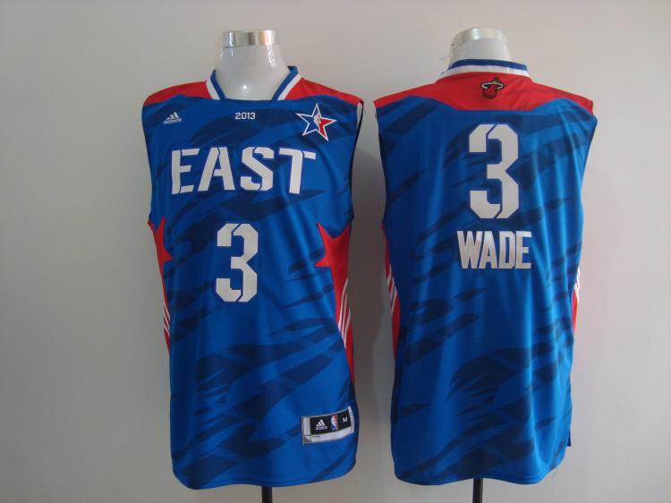 2013 All Star East 3 Wade Blue Jerseys