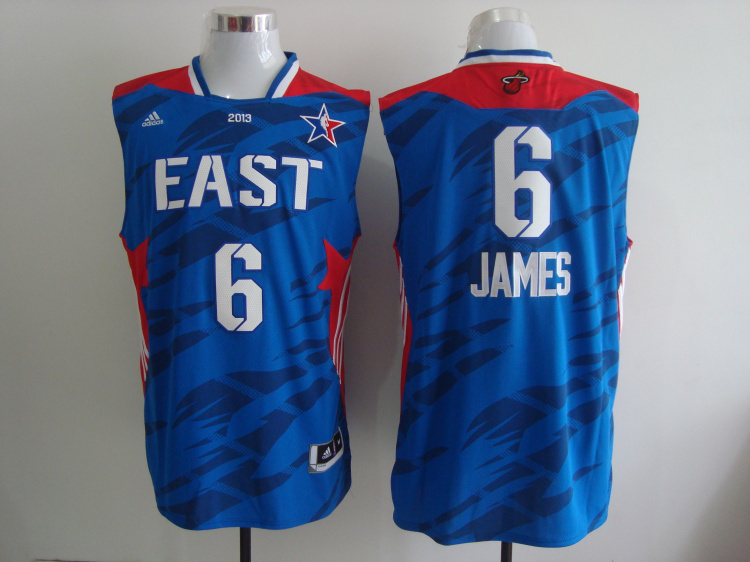 2013 All Star East 6 James Blue Jerseys
