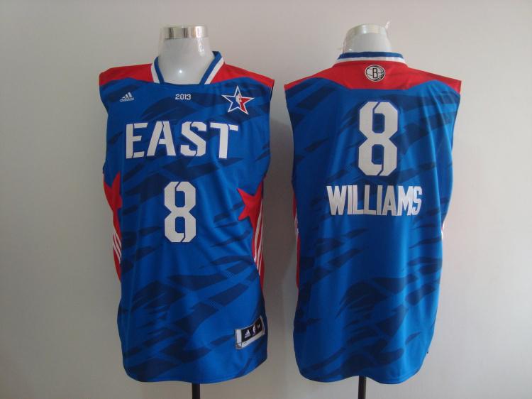 2013 All Star East 8 Williams Blue Jerseys
