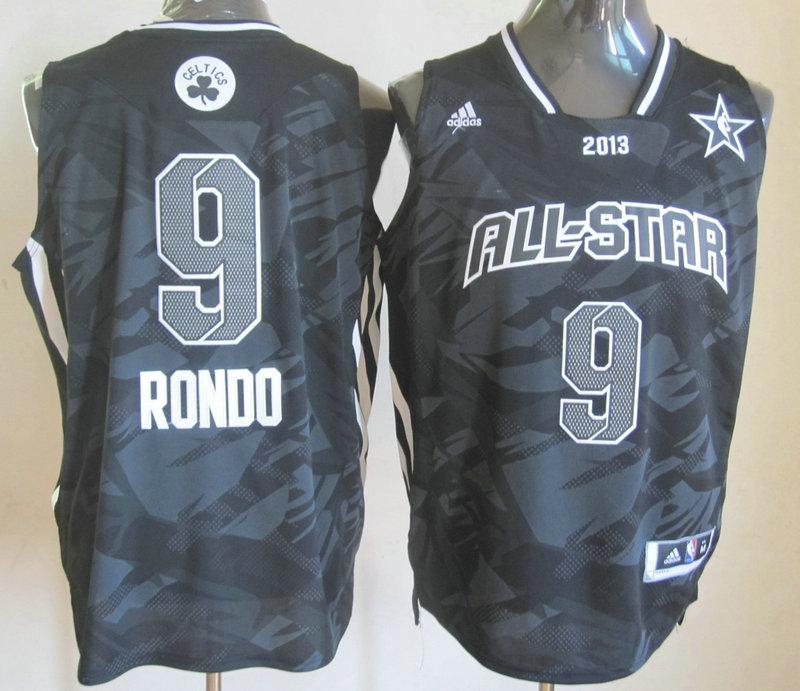 2013 All Star East 9 Rondo Black Jerseys