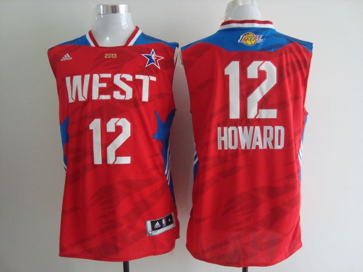 2013 All Star West 12 Howard Red Jerseys