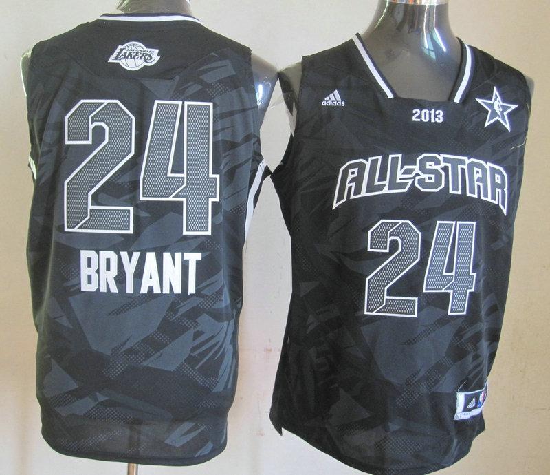 2013 All Star West 24 Bryant Black Jerseys