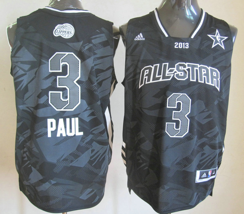 2013 All Star West 3 Paul Black Jerseys