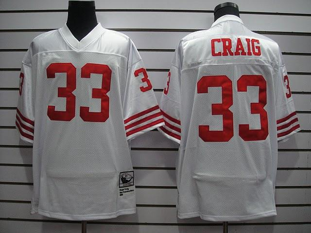 49ers 33 Craig White Throwback Jerseys