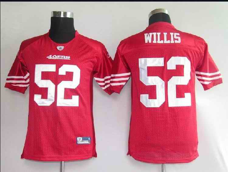 49ers 52 Willis red kids Jerseys