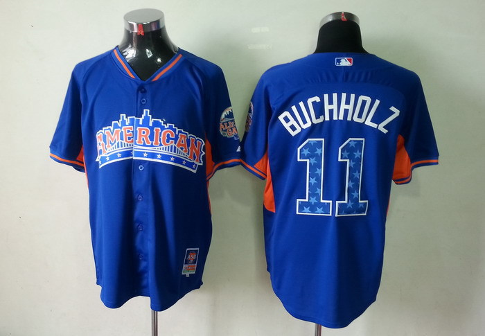 American League 11 Buchholz blue 2013 All Star Jerseys