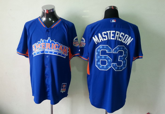 American League 63 Masterson blue 2013 All Star Jerseys