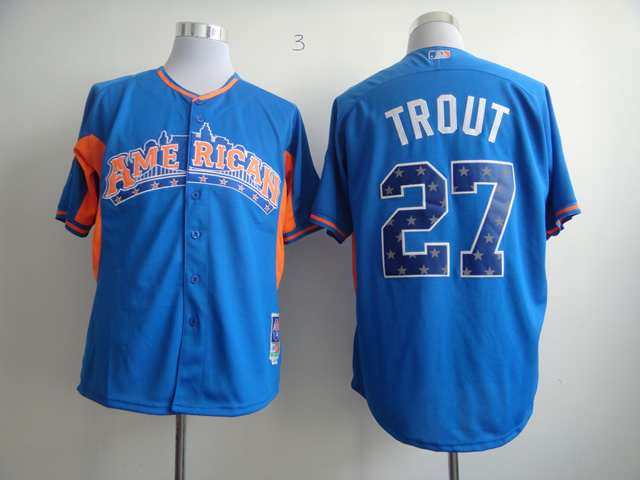 Angels 27 Trout blue 2013 All Star Jerseys