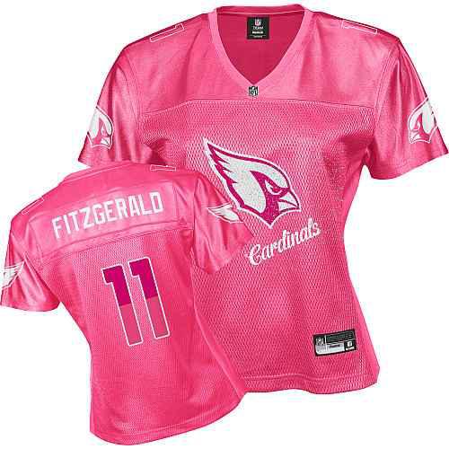Arizona Cardinals 11 FITZGERALD pink Womens Jerseys