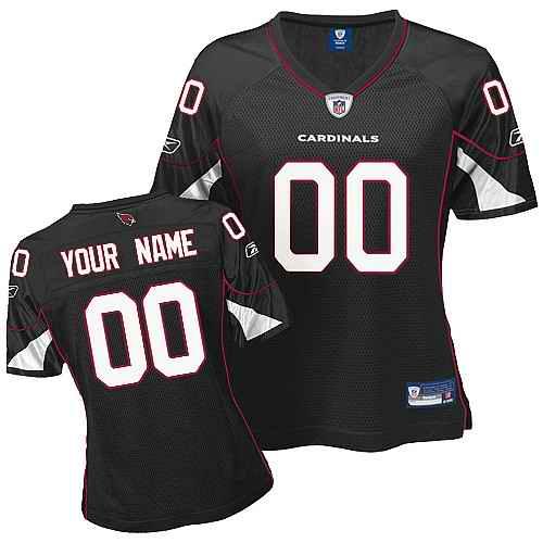 Arizona Cardinals Women Customized Black Jersey