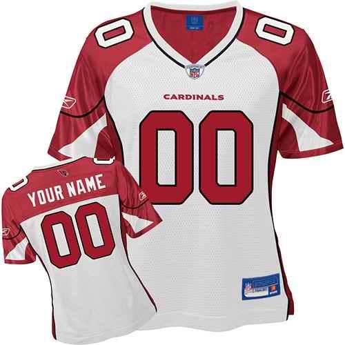 Arizona Cardinals Women Customized White Jersey