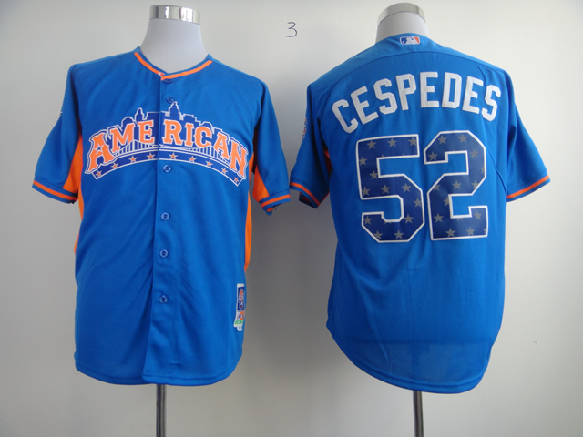 Athletics 52 Cespedes blue 2013 All Star Jerseys