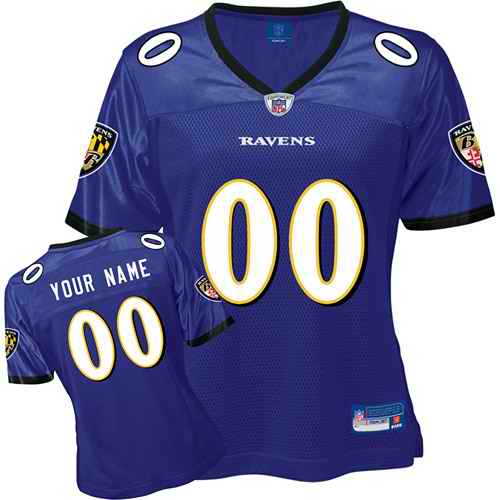 Baltimore Ravens Women Customized Purple Jersey