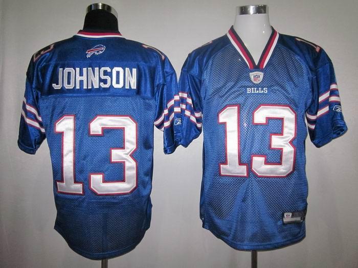 Bills 13 Johnson 2011 Light Blue Jerseys