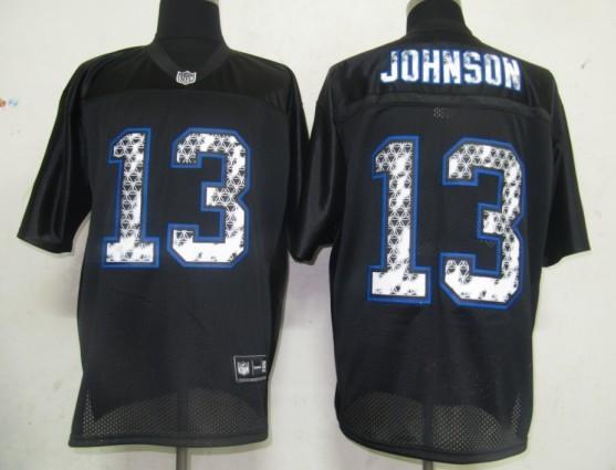 Bills 13 Johnson Black United Sideline Jerseys