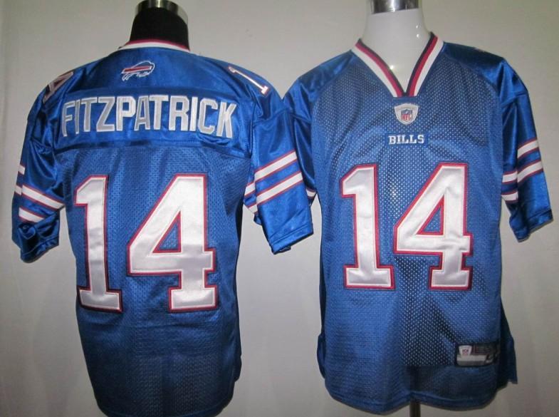 Bills 14 Fitzpatrick 2011 Light Blue Jerseys