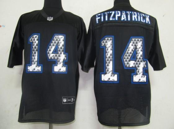 Bills 14 Fitzpatrick Black United Sideline Jerseys