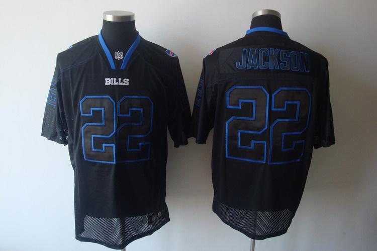 Bills 22 Jackson black field shadow Jerseys
