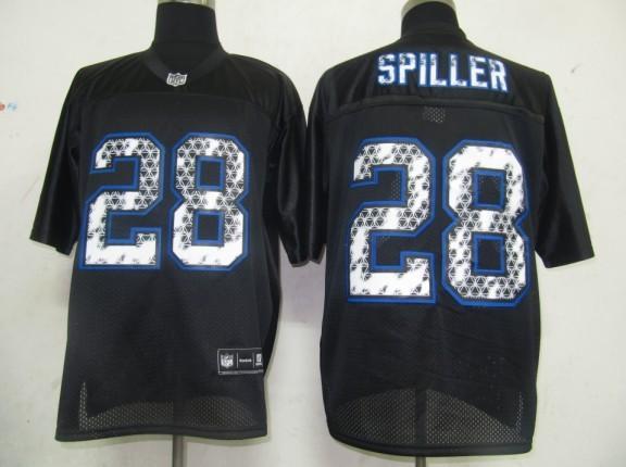 Bills 28 Spiller Black United Sideline Jerseys
