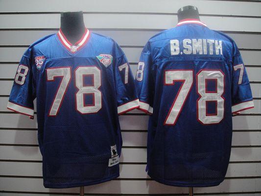 Bills 78 B.Smith Light Blue Throwback Jerseys