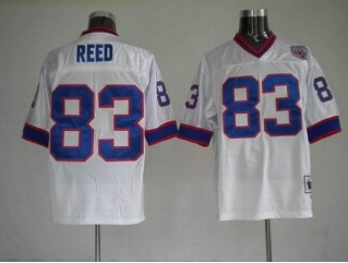 Bills 83 Andre Reed White Throwback Jerseys