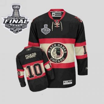 Blackhawks 10 Patrick Sharp Black New Third With 2013 Stanley Cup Finals Jerseys