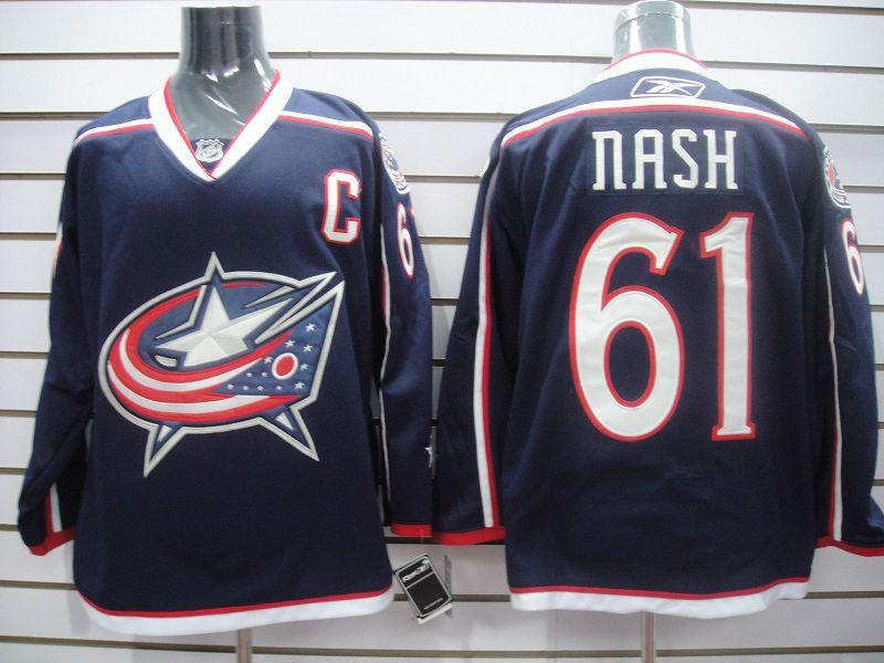 Blue Jackets 61 Rick Nash Columbus blue PA Jerseys