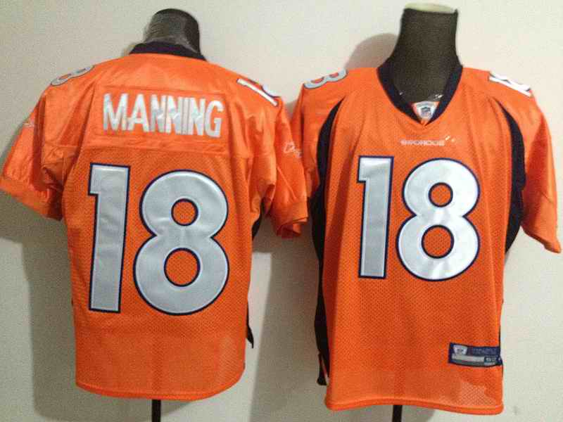 Broncos 18 MANNING orange jerseys