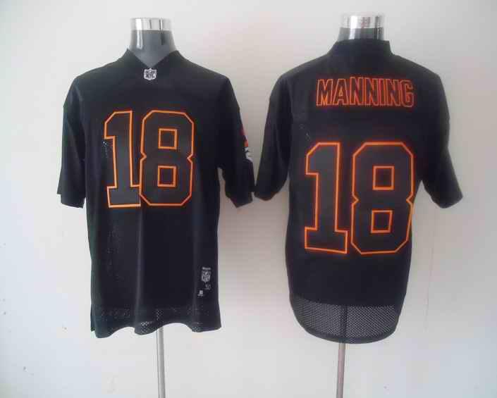 Broncos 18 Peyton Manning Black jerseys