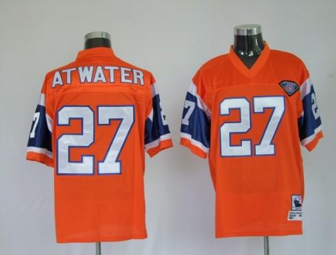 Broncos 27 Atwater Orange Throwback Jerseys