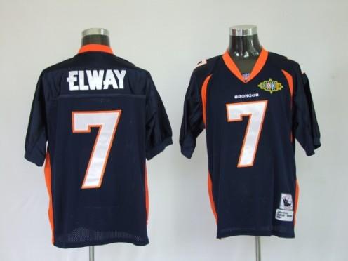 Broncos 7 John Elway Blue Throwback Jerseys
