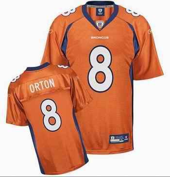 Broncos 8 Kyle Orton orange jerseys