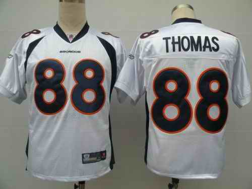 Broncos 88 THOMAS white jerseys