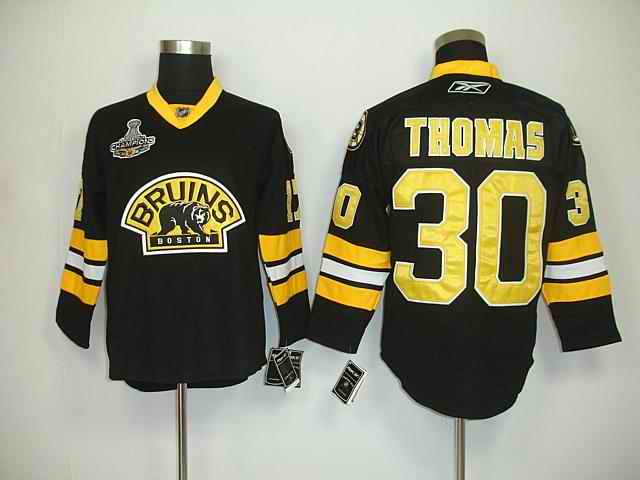 Bruin 30 Thomas Black Champions Third Jerseys