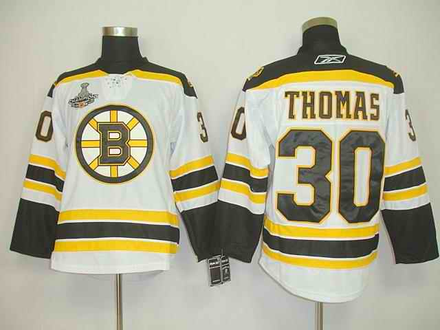 Bruin 30 Thomas White Champions Jerseys