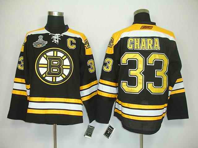 Bruin 33 Chara Black Champions Jerseys