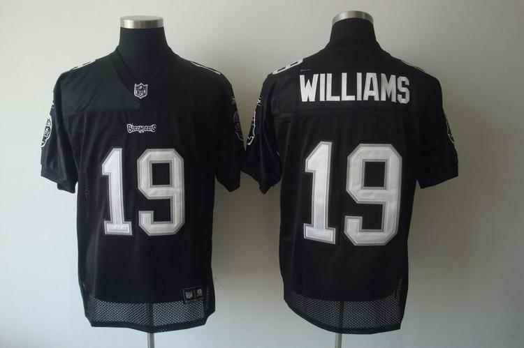 Buccaneers 19 Williams 2011 black Jerseys