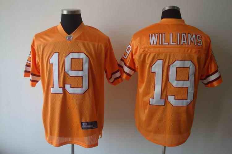 Buccaneers 19 Williams orange Jerseys