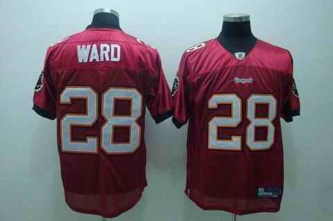 Buccaneers 28 Ward red Jerseys