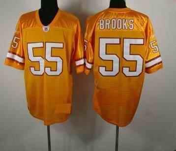Buccaneers 55 Derrick Brooks yellow Jerseys