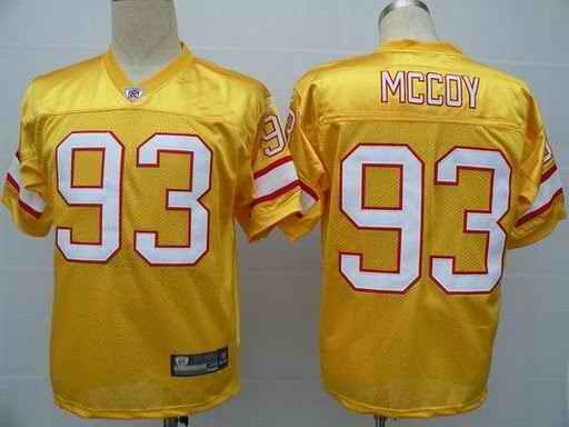 Buccaneers 93 McCoy yellow Jerseys