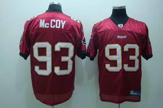 Buccaneers 93 Mccoy red Jerseys