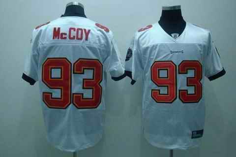 Buccaneers 93 Mccoy white Jerseys