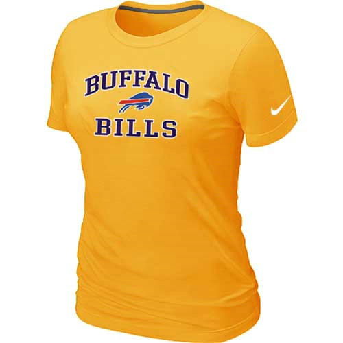 Buffalo Bills Women's Heart & Soul Yellow T-Shirt
