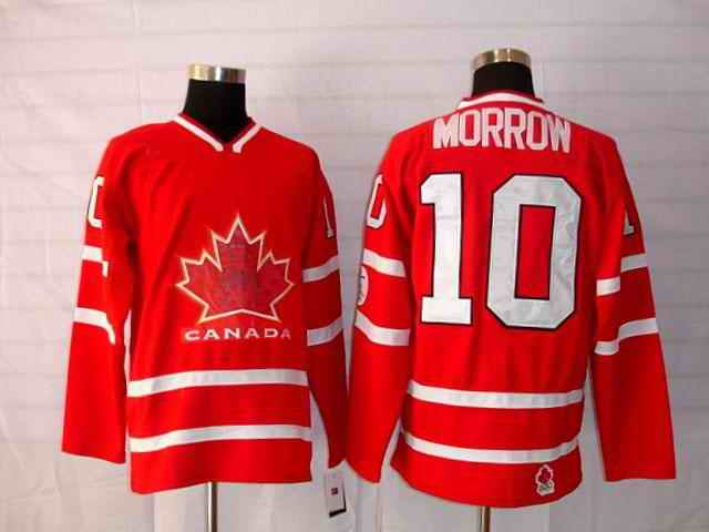 Canada 10 Morrow Red Jerseys